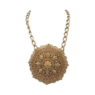 Trifari Necklace With Detachable Brooch Pendant For Sale