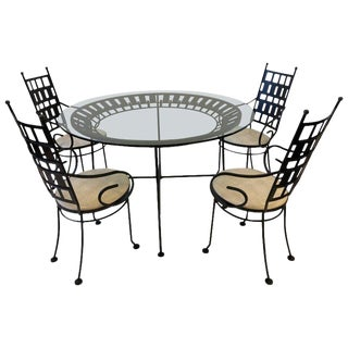 Black Outdoor Patio Set by Arthur Umanoff For Sale