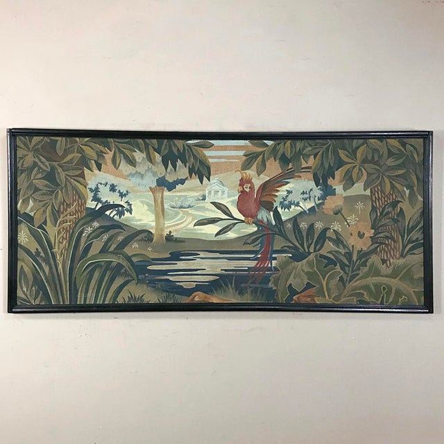 Art Deco Art Deco Period Flemish Framed Tapestries-a Pair For Sale - Image 3 of 13