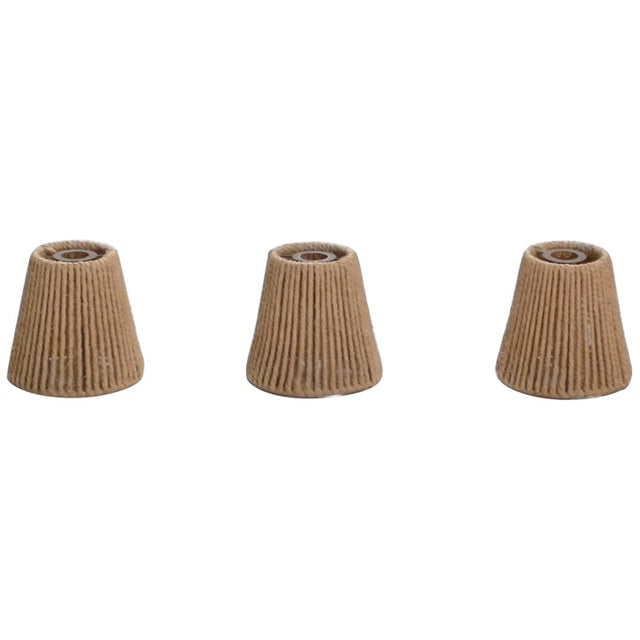 Set of Three Audoux Minet Small Rope Shades, 1960s For Sale - Image 9 of 9