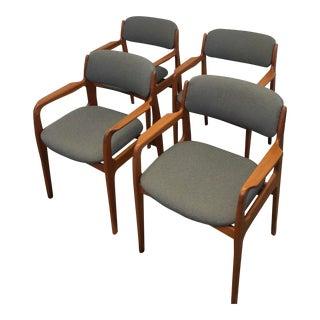 Danish Modern Teak Dining Chairs - Set of 4