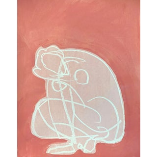 Figurative Drawing Ali in Pink IV 12x16 For Sale