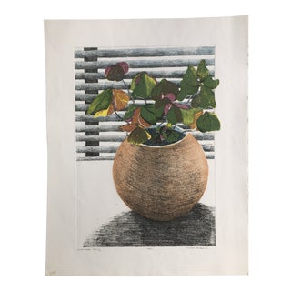 """Original 1984 """"Shamrock Rising"""" Lithograph by Michele Perdue For Sale"""