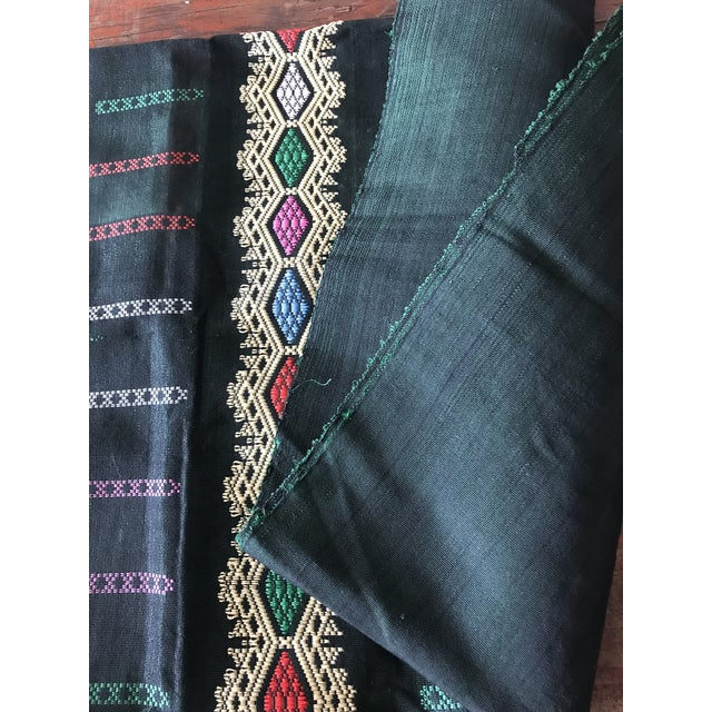 Emerald Green & Yellow Embroidered Textile - Image 9 of 10