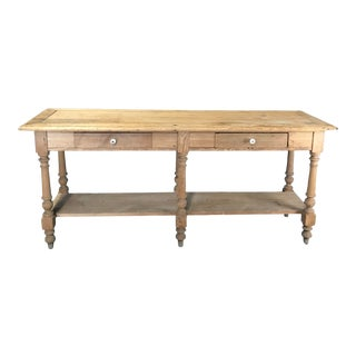 Mid 19th Century Antique French Pine Sideboard For Sale