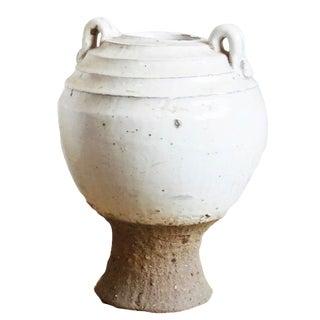White Ceramic Pottery Jar