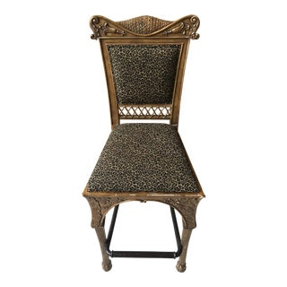 Maitland Smith Cheetah Print Bar Stool For Sale