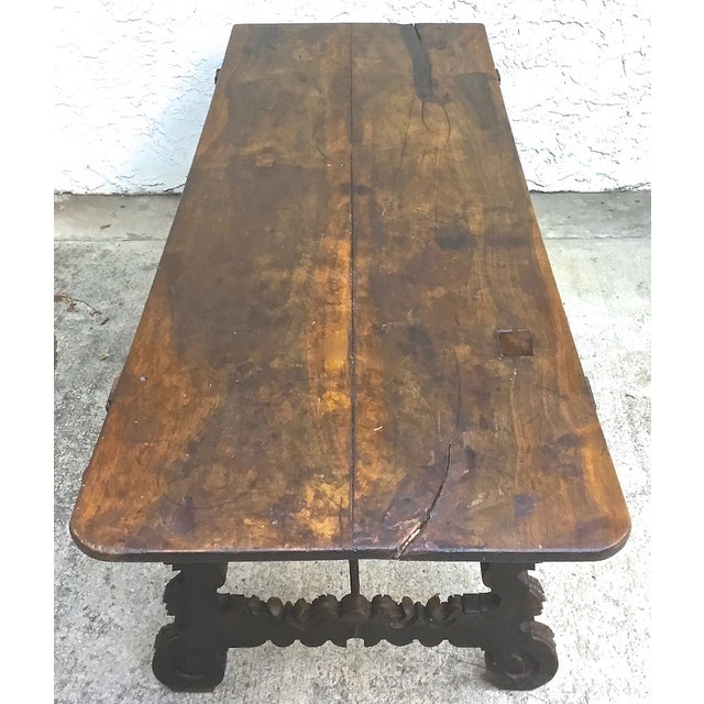 Antique 16th Century Spanish Refractory Table For Sale - Image 7 of 11