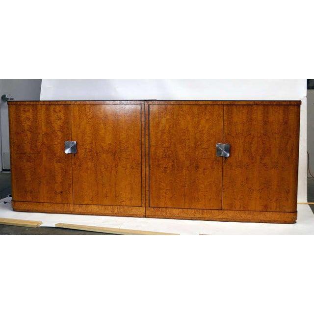 Art Deco European Art Deco Burl Cabinets - a Pair For Sale - Image 3 of 4