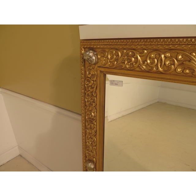 Friedman Brothers Custom Mirror With Cherub Heads - Image 3 of 11