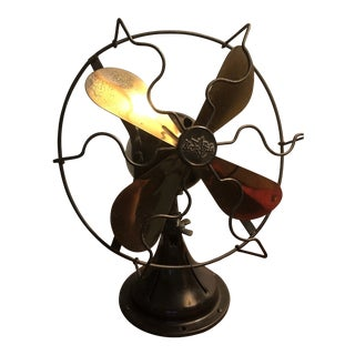 Antique Star-Rite Nickel Plated Brush Motor Fan For Sale