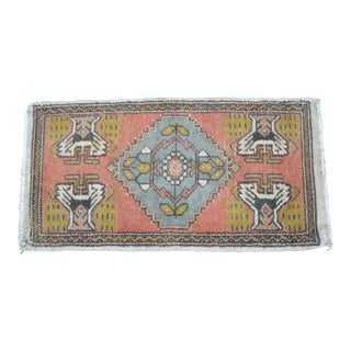 Turkish Decorative Small Rug - 1′8″ × 3′3″ For Sale