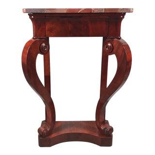 1820s Biedermeier Mahogany Console Table For Sale