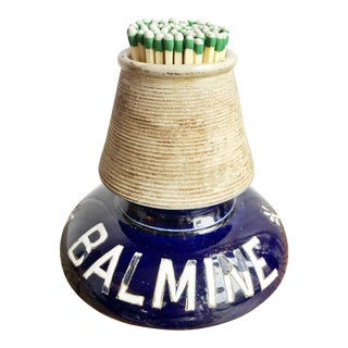 "Antique French Stoneware ""Balmine"" Match Striker For Sale"