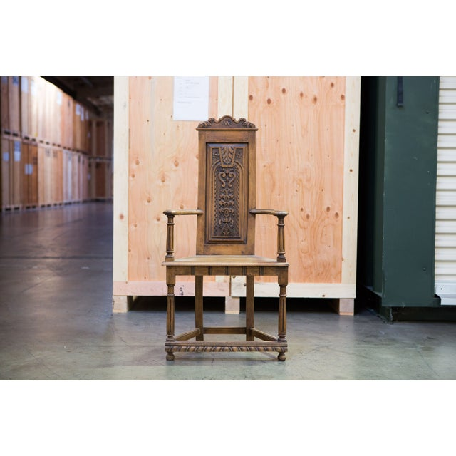Flemish Baroque Hall Chair - Image 2 of 7