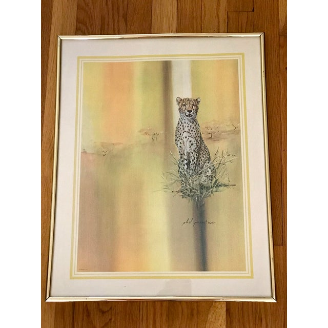 Midcentury 1970s Leopard Cheetah Wall Art For Sale In Los Angeles - Image 6 of 7