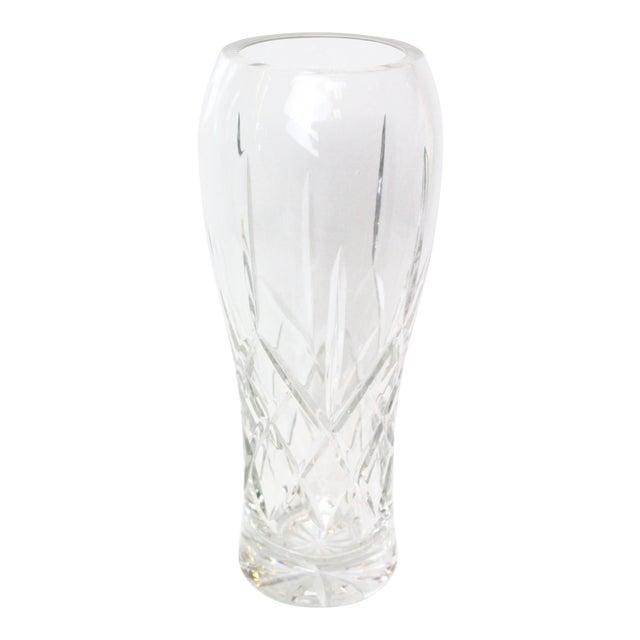 Vintage Cut Glass Vase For Sale