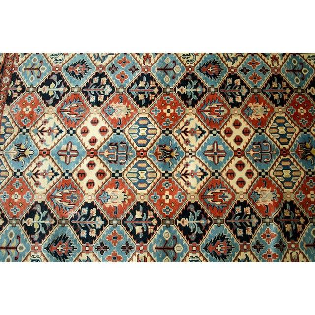 "Interesting Panel Design Persian Ghochan Rug, 4'-1""x 5'-3"". - Image 3 of 4"