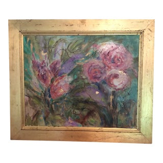 """""""Peonies on Canvas"""" Oil Painting For Sale"""