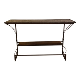 Industrial Rustic Rebar Table For Sale