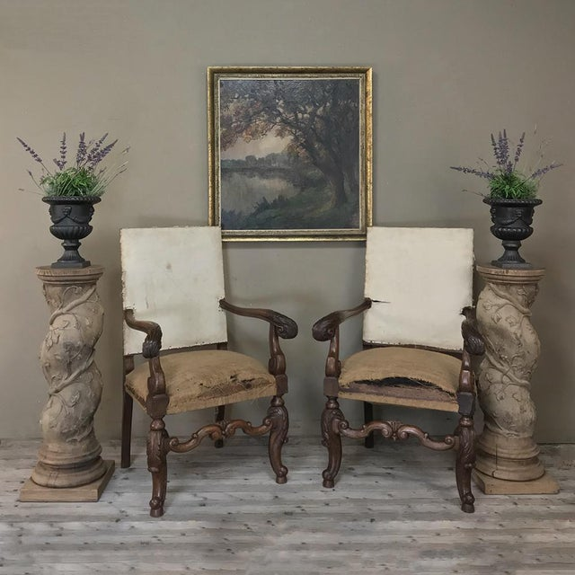 Renaissance Pair 19th Century Barley Twist Stripped Pedestals For Sale - Image 3 of 13