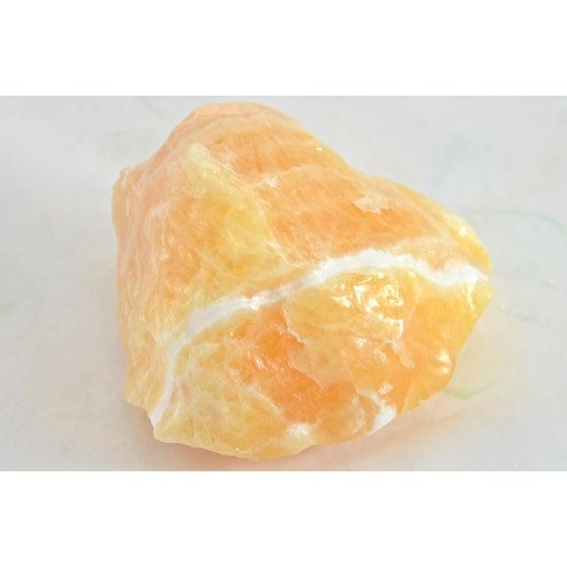 Natural Orange Calcite Specimen For Sale - Image 4 of 5