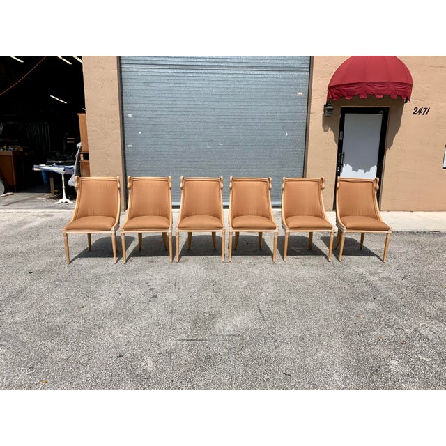 """1950s Mid-Century Modern """"Gondola"""" Swan Neck Dining Chairs - Set of 6 For Sale - Image 5 of 13"""