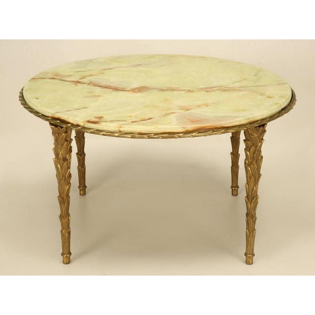 Maison Bagues Bronze Coffee Table With Onyx Top - Image 2 of 10