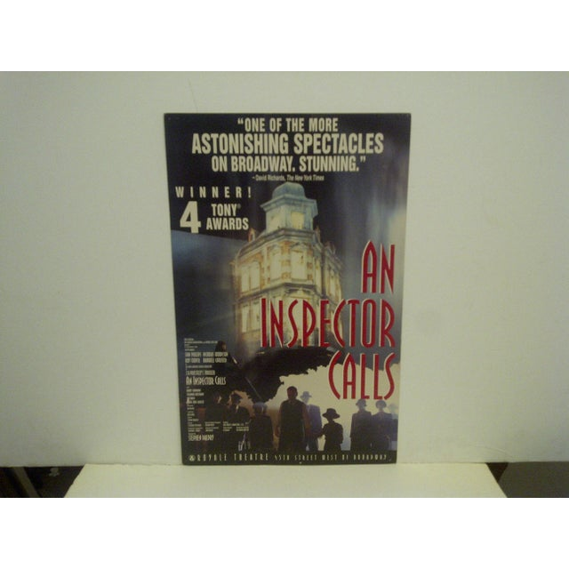 "A Vintage Theater Poster -- ""An Inspector Calls"" -- Royal Theatre -- New York -- Winner Of 4 Tony Awards -- The Poster Is..."