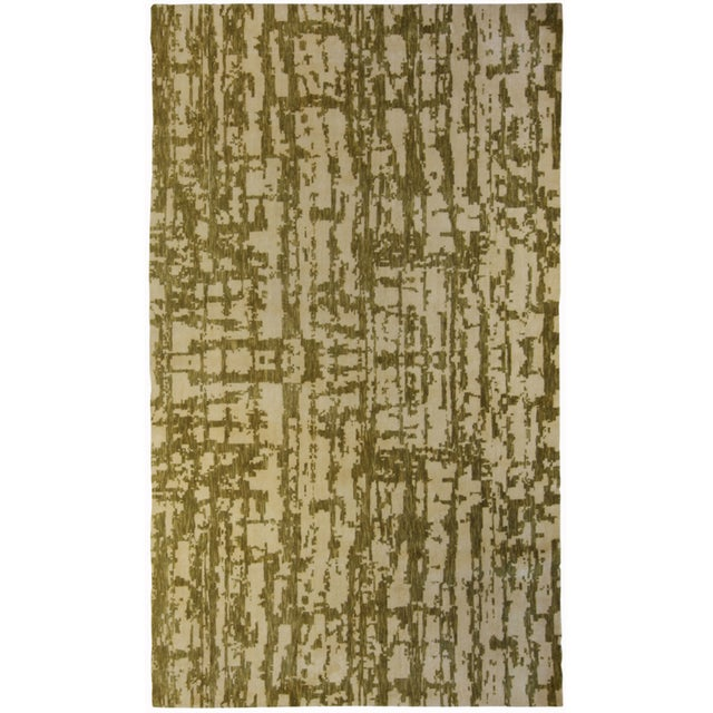 Green And Beige Patterned Area Rug Chairish