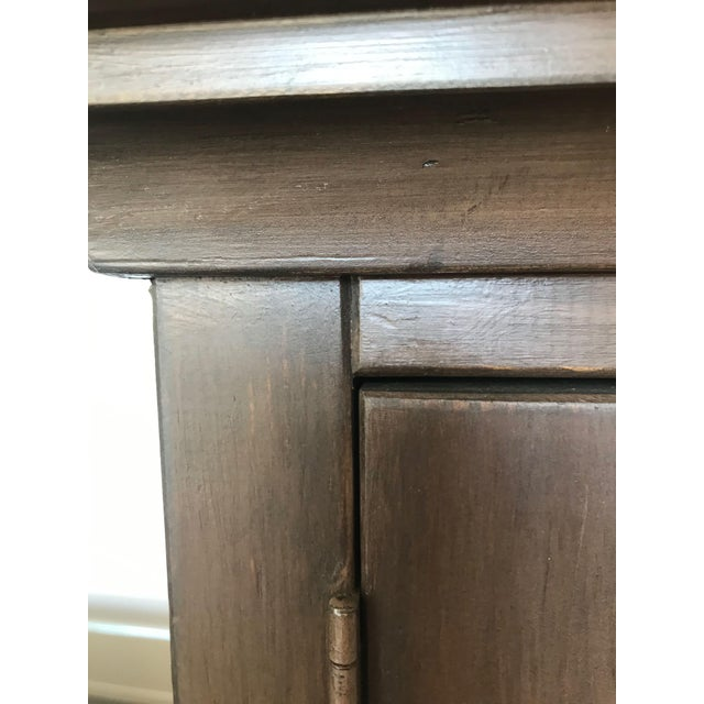 Taupe Wall Display Cabinet For Sale - Image 9 of 10