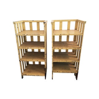 American Country Bookcases - A Pair
