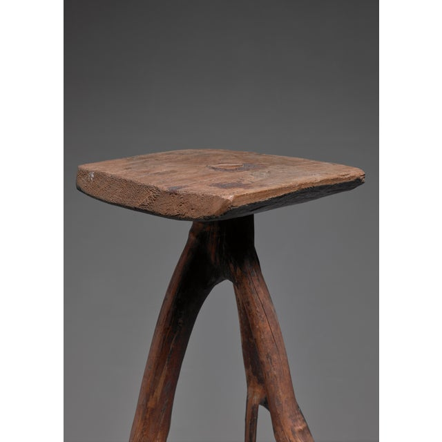 Folk Art Fernando da Ilha do Ferro craft stool, Brazil For Sale - Image 3 of 5