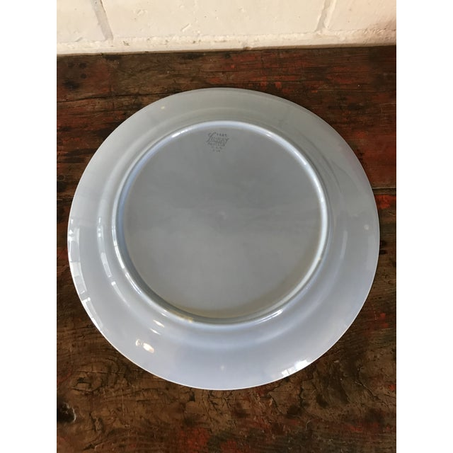 1940's Boho Chic Luray Pastels Large Blue Cake Platter For Sale In Los Angeles - Image 6 of 8