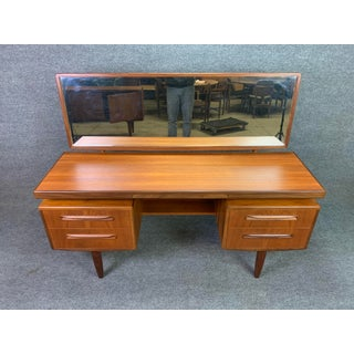 "1960s Mid Century Modern G Plan Teak ""Fresco"" Vanity and Mirror Preview"