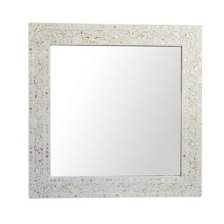 Mother of Pearl Inlay Square Mirror For Sale