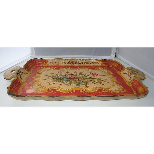 Red Japanese Floral Tray - Image 4 of 5