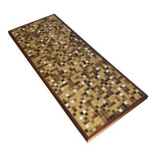 Vintage Mid-Century Modern Mosaic Top Coffee Table For Sale
