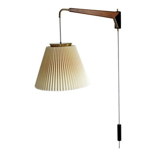Mid Century Modern Gerald Thurston for Lightolier Swing Arm Wall Lamp Fixture For Sale