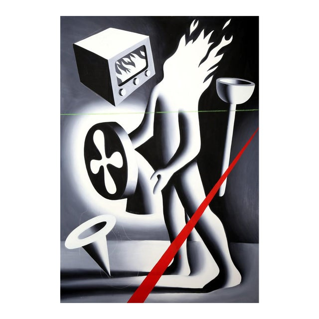Mark Kostabi, Is Gramercy Park Burning?, 1987 For Sale
