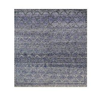 Contemporary Handwoven Purple Wool Rug - 8x10