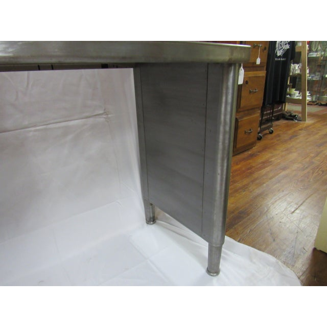 1960s Industrial Adjustable Height Console Table For Sale In Los Angeles - Image 6 of 7