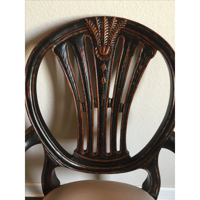 Jonathan Charles Hepplewhite Wheatsheaf Side Chair - Image 3 of 5