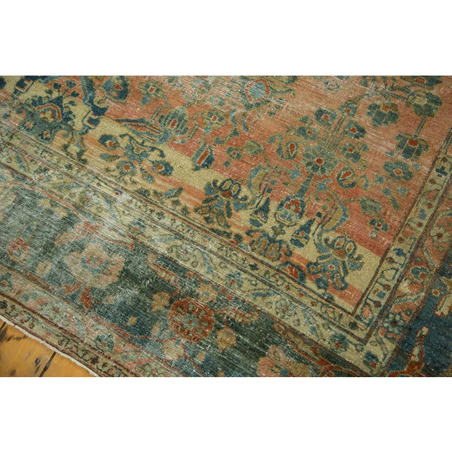 "Antique Distressed Lilihan Carpet - 9' x 11'1"" - Image 5 of 10"