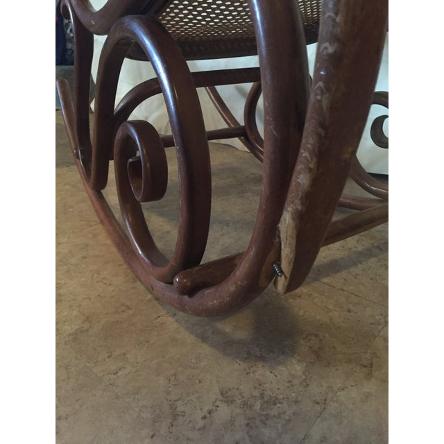 1960s Vintage Thonet Style Bentwood Rocking Chair For Sale - Image 10 of 12