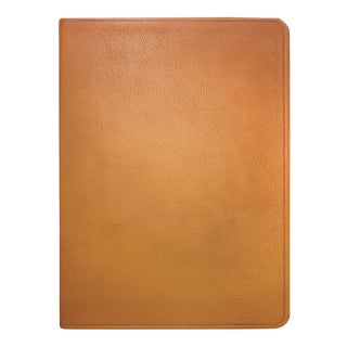 Large Flexible Cover Journal, Calfskin Book in British Tan For Sale