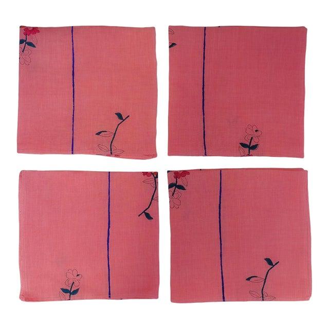 Zeenat Handwoven & Block-Printed Table Napkins - Set of 4 For Sale