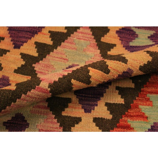Kilim Arya Nephele Rust/Purple Wool Rug -3'4 X 5'0 For Sale - Image 4 of 8