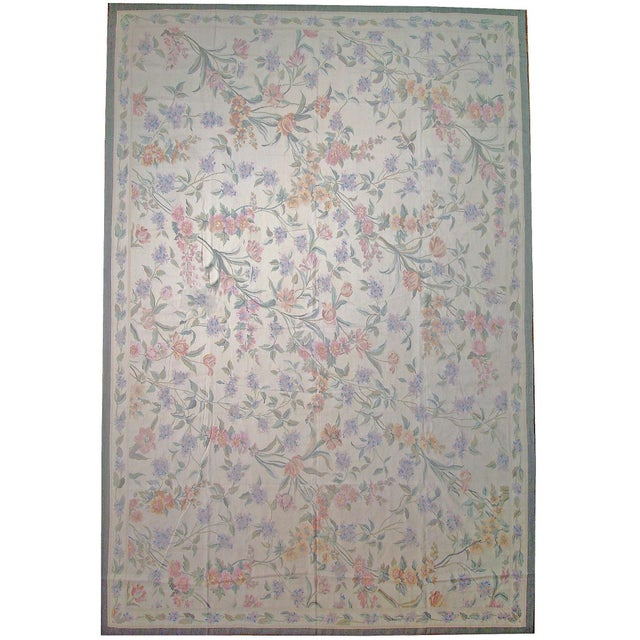"""Pasargad Aubusson Hand Woven Wool Rug - 11' 4"""" X 15' 8"""" - Image 3 of 3"""