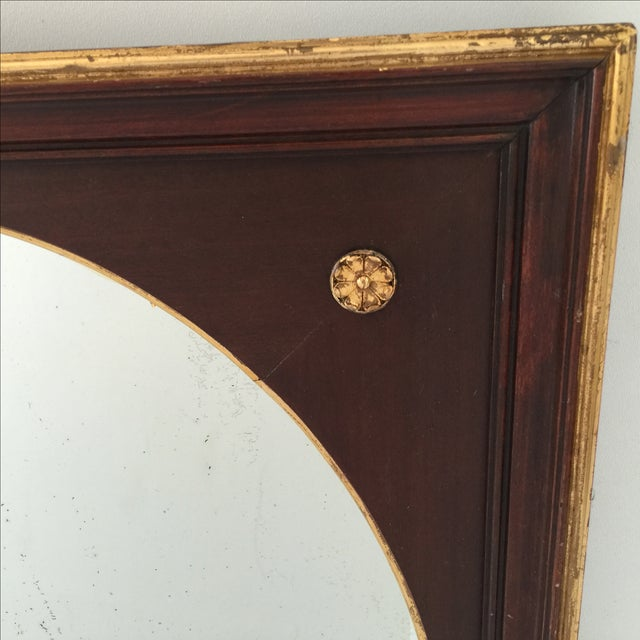 Antique Gilt Mahogany Oval Mirror - Image 3 of 4